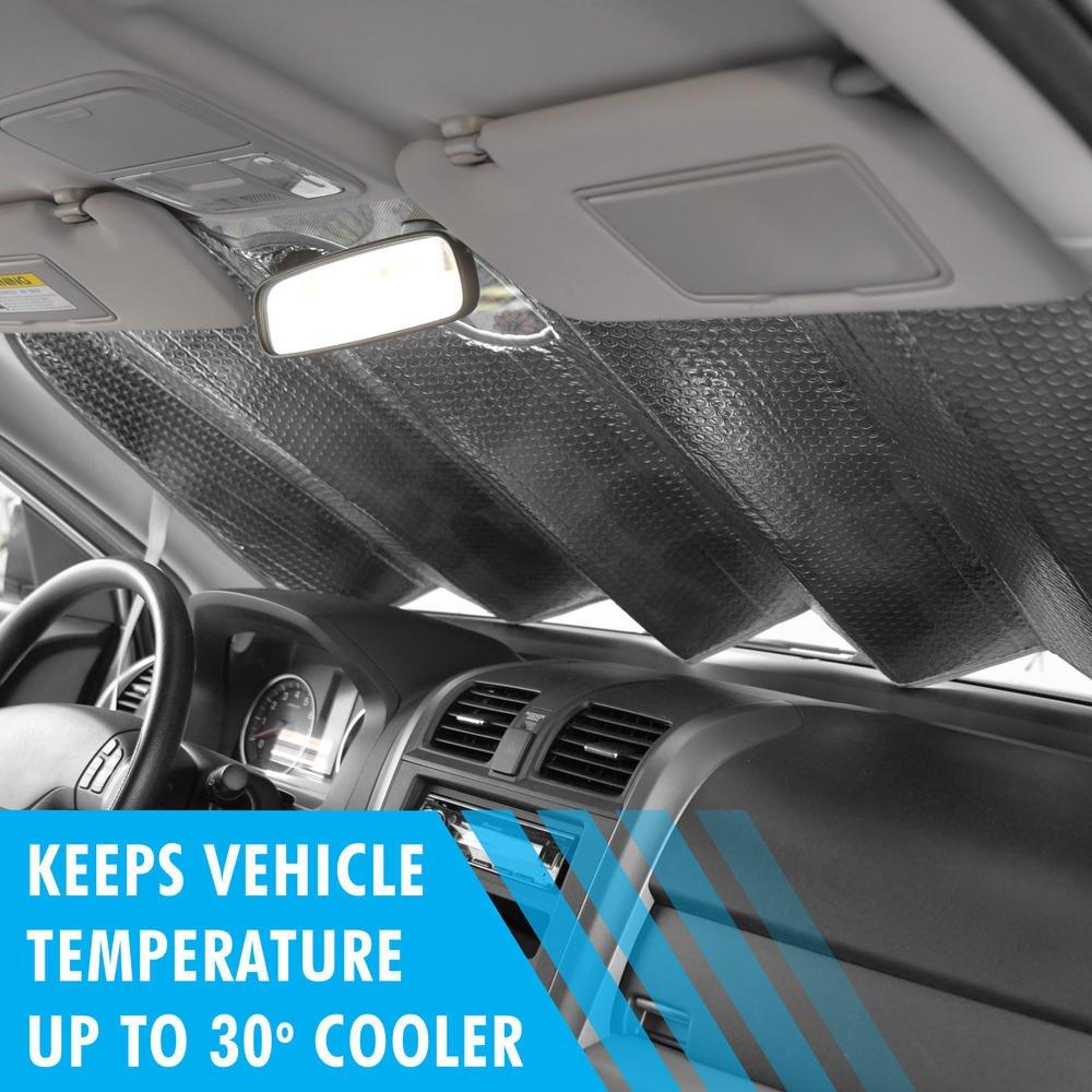fd4d77676e5 Amazon.com  BDK WAS1601 Windshield Sun Shade for Car SUV Van    Truck-Original Superman Design-Double Bubble Sunshade Block-(58 x 28 inch)   Automotive