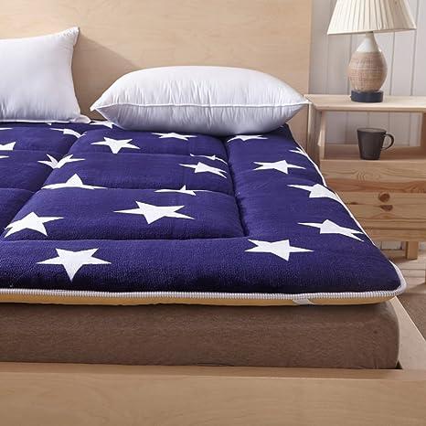 LJ&XJ Verano Tatami Fino colchón,Esponja Suave tapete Protector de colchón Individual Doble Plegable Ligero Tatami Mat-E 90x200cm(35x79inch): Amazon.es: ...