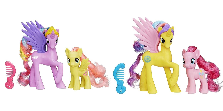 Gold Lily and Pinkie Pie Figure Bundle Hasbro My Little Pony Princess Sterling Fluttershy