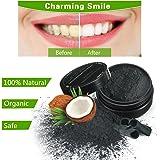 LuckyFine Denti Polvere Sbiancamente Carbone Attivato Polvere Naturale Sbiancare i Denti Charcoal Powder per Denti e Salute Efficace Contro Cattivo Respiro, Placca, Gengivite, Migliora la Salute Orale