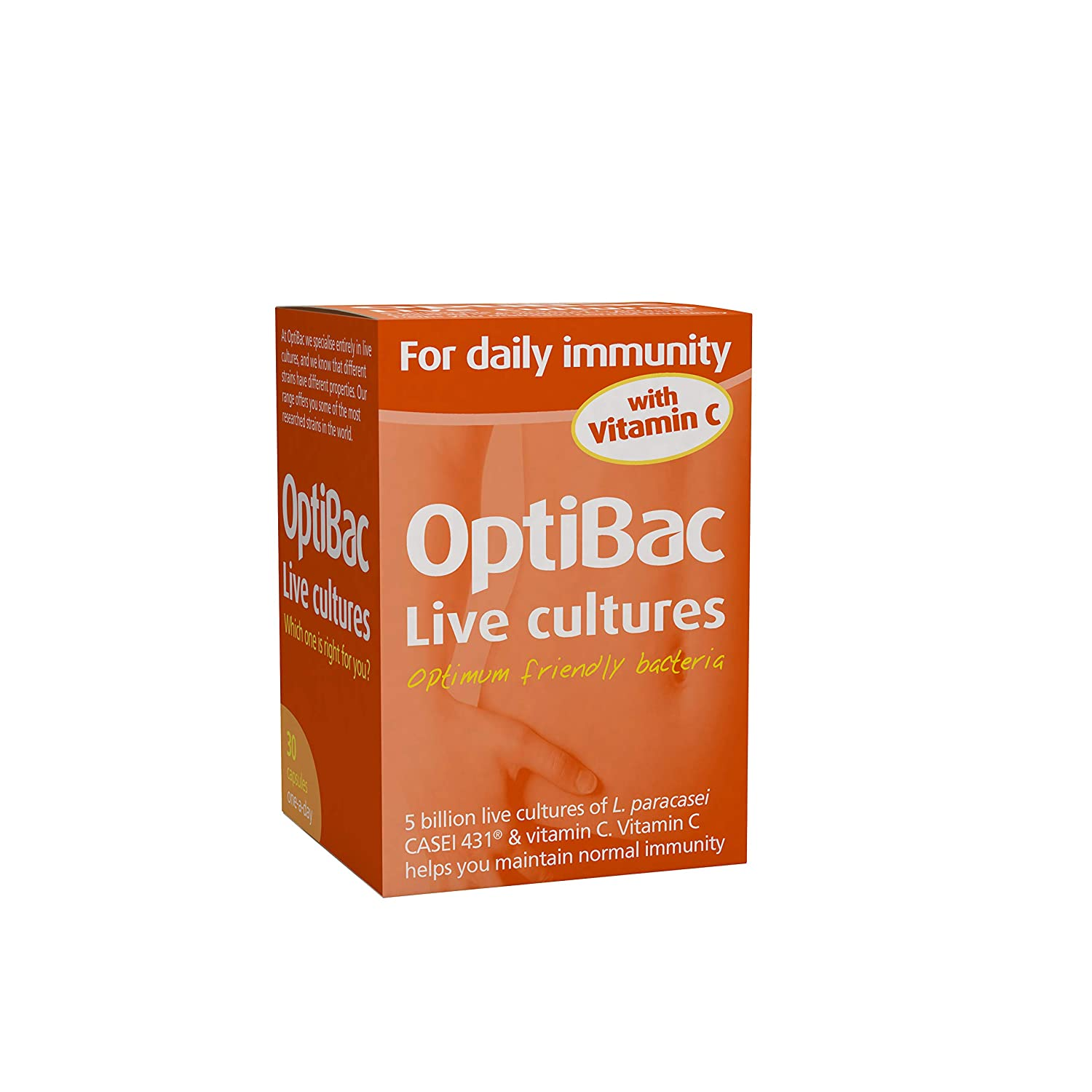 Amazon.com: Optibac Probiotics for Daily Immunity 30 Vegetarian Capsules: Health & Personal Care