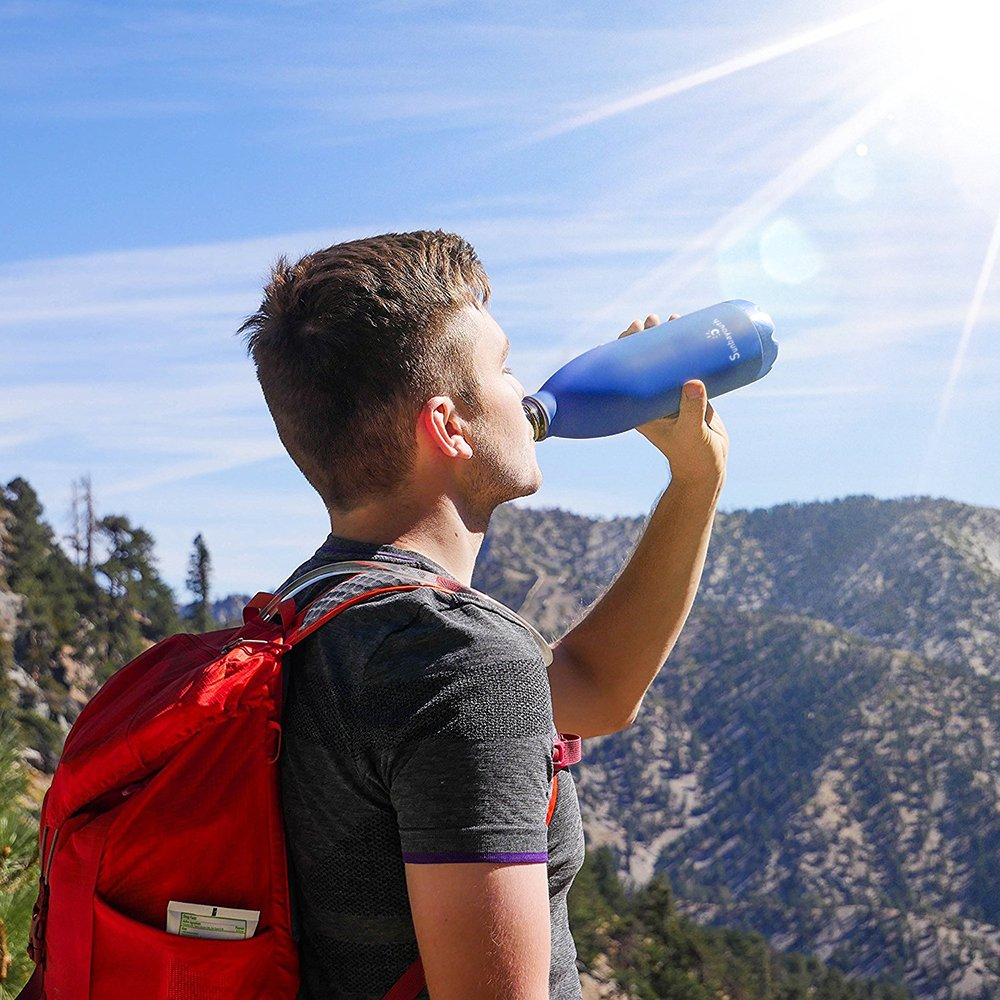 Leak-proof Double Walled Stainless Steel Cola Shape Portable Water Bottle Sunba Youth Vacuum Insulated Travel Water Bottle Keeps Your Drink Hot /& Cold No Sweating 17 Oz 500 ml