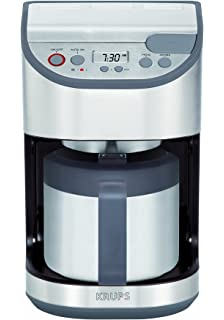 KRUPS KT611 Precision Programmable Thermal Carafe Coffee Maker Machine with Stainless Steel Housing, 10-