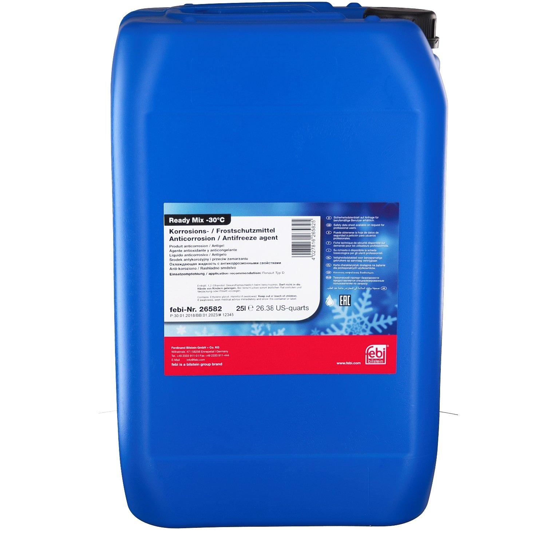 febi bilstein 26582 Frostschutzmittel für Kühler (grün) 25 Liter  (Fertiggemisch -30°C)