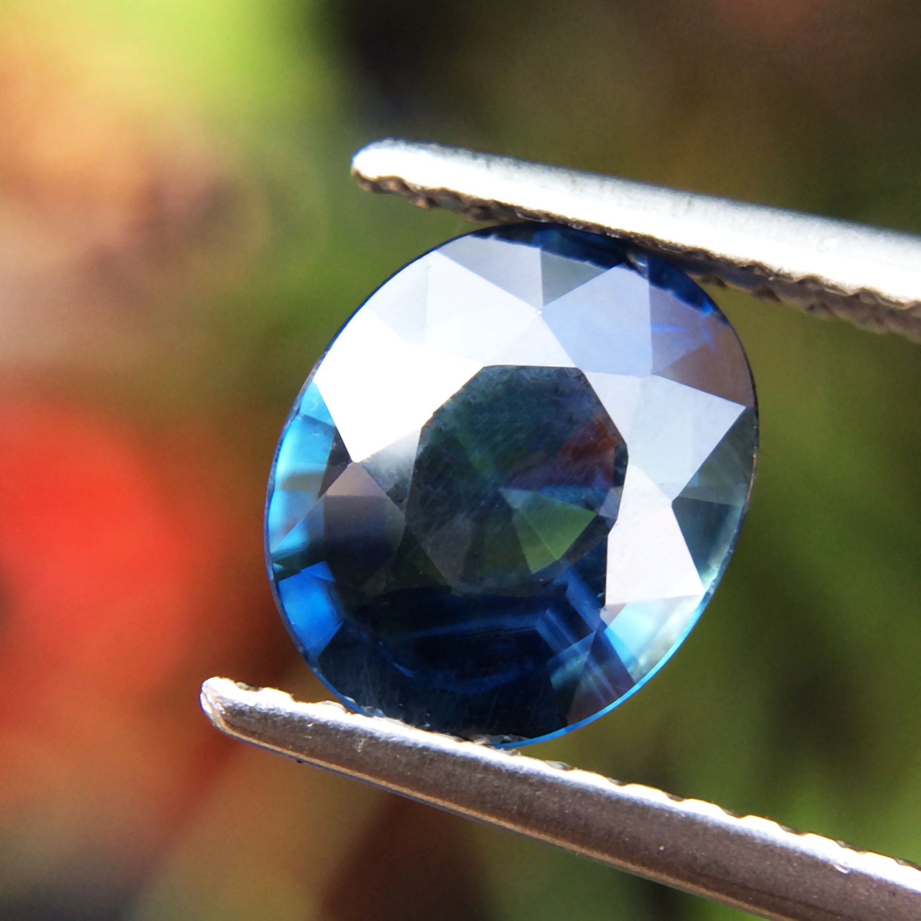 1.51ct Natural Oval Unheated Blue Sapphire Thailand #B by Lovemom (Image #2)