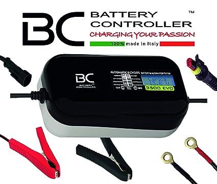 BC Battery Controller BC 3500 EVO, Cargador de baterías y Mantenedor Digital/LCD, Comprobador de Batería y Alternador para todas las Baterías de Coche ...