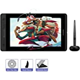 HUION KAMVAS PRO 13 13,3 Zoll Grafiktablett Display Mobiles batterieloses Stift-Display mit 8192 Stufen Stiftdruck- und Kippfunktion, 4 Expresstasten und 1 Touch-Bar (GT-133)