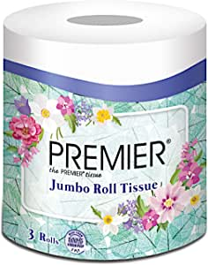 Premier Floral Pulp Jumbo Roll, 130m, 3 count