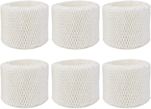Extolife 6 Pack Replacement Humidifier Filter for Vicks & Kaz WF2 Humidifier Filters V3100, V3500, V3500N, V3600, V3700, V3800, V3850, V3850JUV, V3900, V3900JUV, VEV320, 3020, ECM-250i, ECM-500, WA-8D