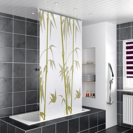 Homelux Clamping Rod Bathroom Shower Curtain Ceiling Mounted Roller Blind With Side Pull Left Or Right Fit Bamboo 80 X 200 Cm Amazoncouk