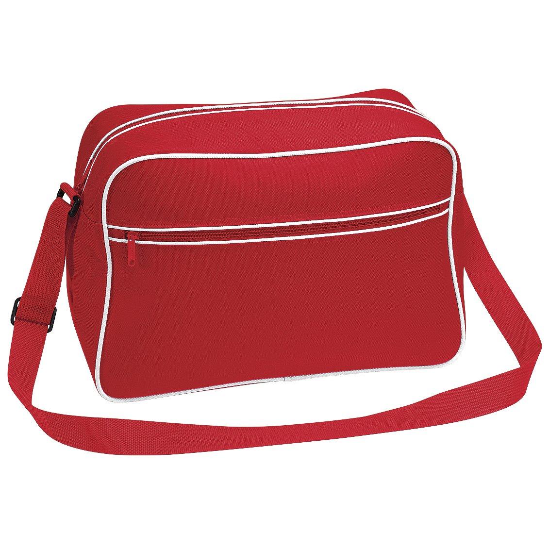 Bagbase Retro Adjustable Shoulder Bag (18 Litres) (One Size) (White/Black) UTBC1302_14