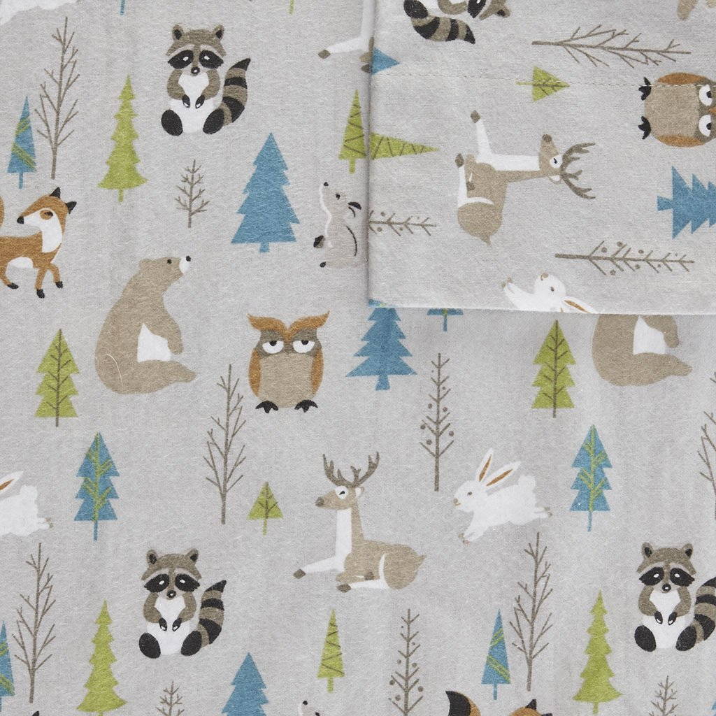 True North by Sleep Philosophy Cozy Flannel Sheet Set Multi Forest Animals Queen by True North by Sleep Philosophy (Image #3)