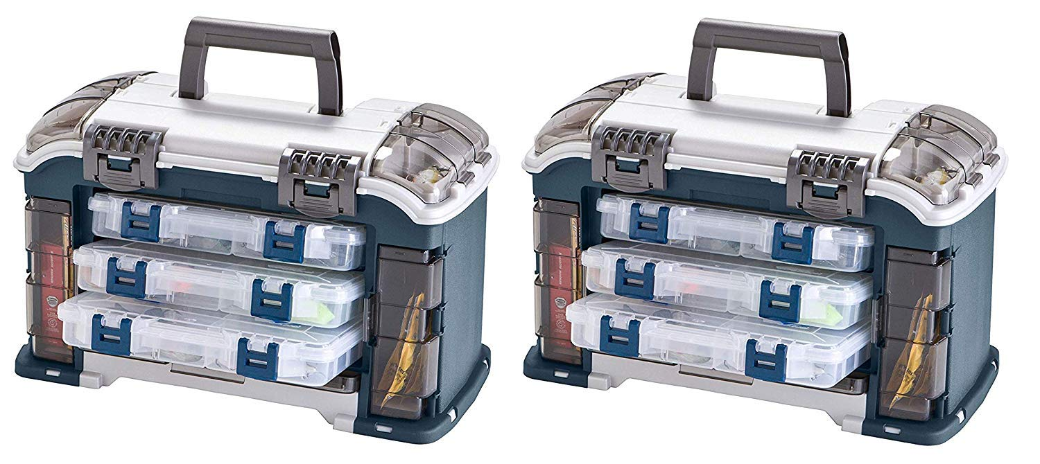 Plano Angled Tackle System with Three Stowaway Boxes, Fishing Tackle Storage, Premium Tackle Storage by Plano