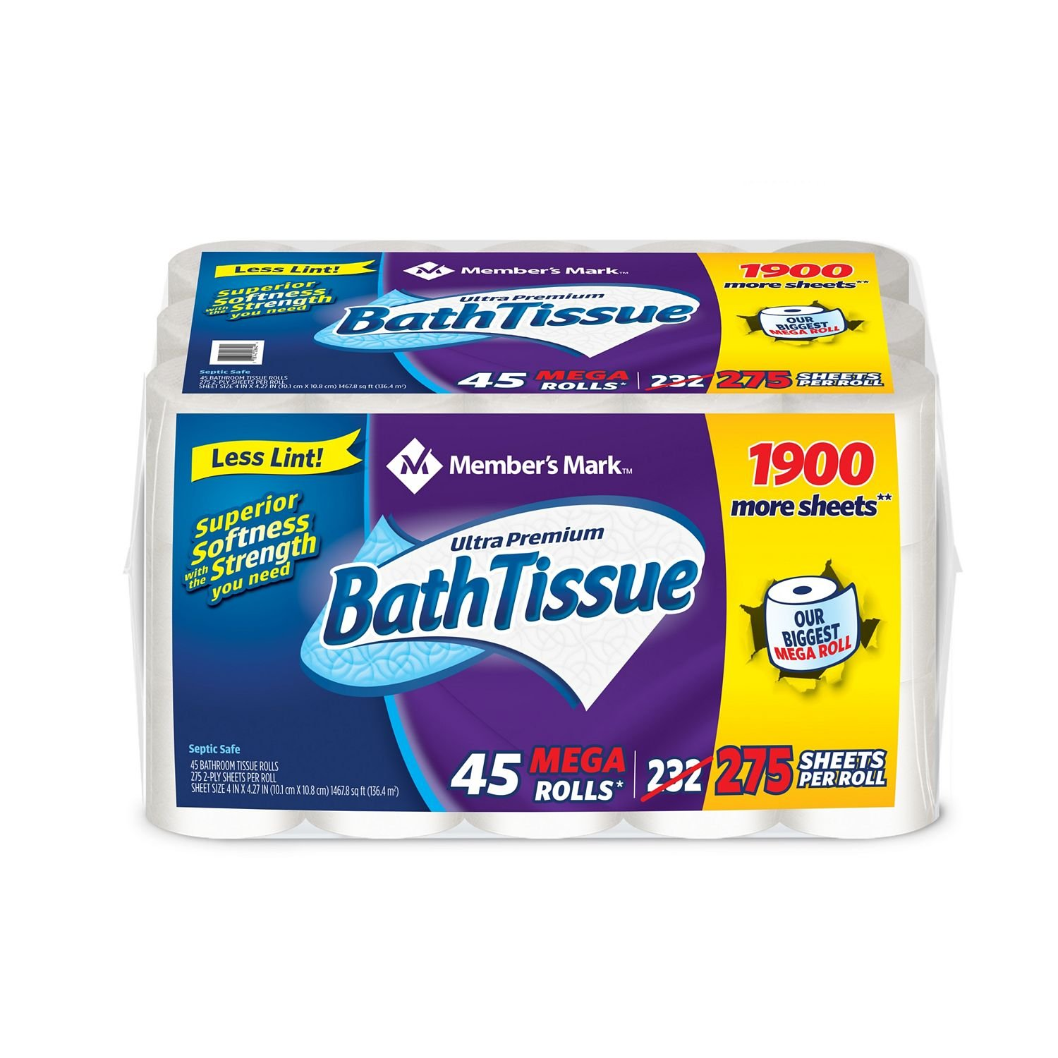good Members Mark Ultra Premium Bath Tissue Part - 3: Amazon.com: Memberu0027s Mark Ultra Premium Bath Tissue, 2-Ply Mega Roll (275  sheets, 45 rolls): Health u0026 Personal Care