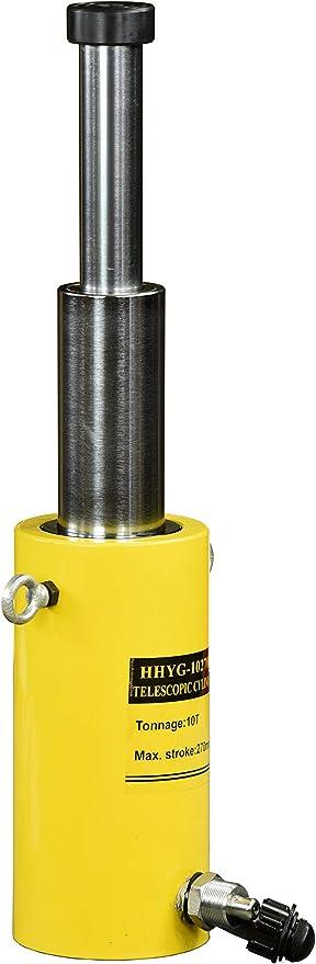 Pro-Lift-Werkzeuge Zugzylinder einfachwirkend 10 t Zuglast Kolbenhub 130 mm Hydraulikpumpe Zugkraft R/ückzugfeder Arbeitszylinder cylinder 10t Lastheber