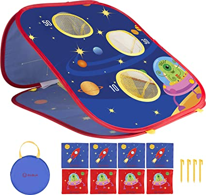 Cornhole Bean Bag Toss Set Boards Indoor Party Game Toys with Carry Bag for Kids