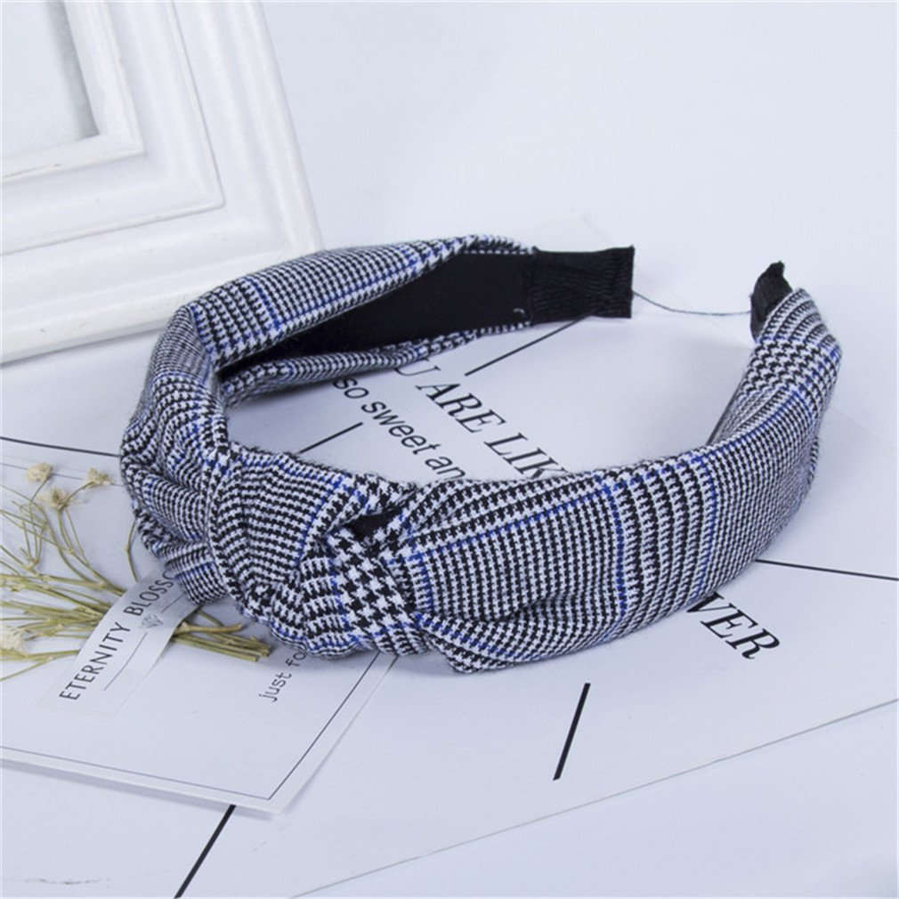 Amazon.com   Knot Headband Adults New New Striped Plaid Cotton Women Casual  Wide Knotted Hair Accessories Headwear AS SHOW   Beauty 2e9835295a2