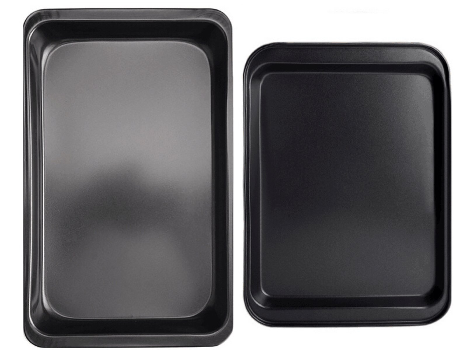 Oven Lovin' Bakeware 2-Piece Nonstick Pan Set Non Stick Coating, Durable Carbon Steel, Pizza Tray, Cake Pans, Cookie Sheet, Muffins by StarFashion