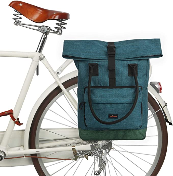 TOURBON Roll Top Panniers Backpack
