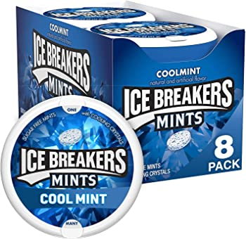 8-Pack Ice Breakers Coolmint 1.5 Ounce Sugar Free Mints