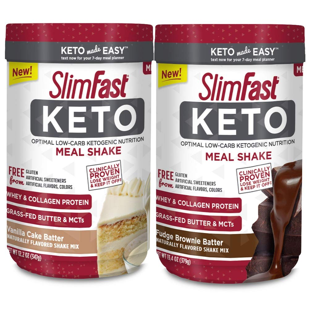 Slimfast Keto Meal Replacement Powder Fudge Brownie Batter Canister, 13.4 oz, Pack of 1 by SlimFast (Image #10)