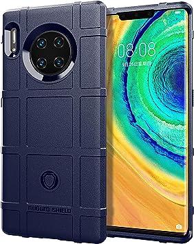 SWMGO® Firmeza y Flexibilidad Smartphone Funda para Huawei Mate 30 Pro/Huawei Mate 30 Pro 5G(Azul Oscuro): Amazon.es: Electrónica