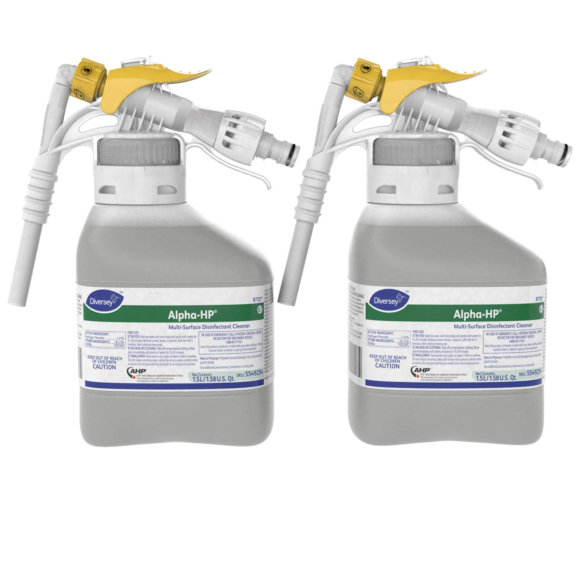 Diversey Alpha-HP Multi-Surface Disinfectant Cleaner (50.7-Ounce, 2-Pack)