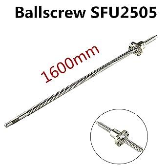 Ball Screw SFU2505 RM2505 L1600mm~2000mm Ballscrew End Machined /& BK20/&BF20 CNC
