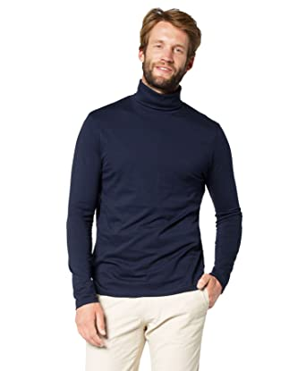 1251 POLO NECK GOOD QUALITY LONG-SLEEVE COTTON SWEATER TOPS MEN/'S ROLL