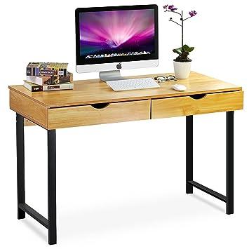 Amazon De Tribesigns Computer Schreibtisch Modern 119 4 Cm Heim