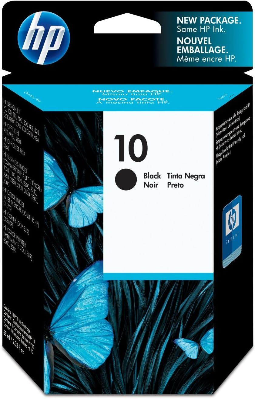 HP Cartucho de tinta negro HP 10 10 Ink Cartridges, De -40 a 60 °C, De 5 a 40 °C, 0.16 kg (0.353 libras), 109 x 25 x 142 mm: Amazon.es: Oficina y papelería