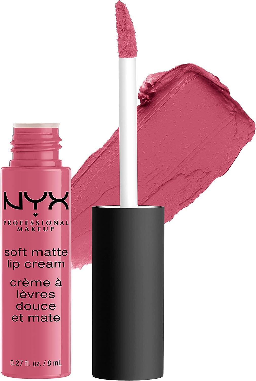 NYX Professional Makeup Pintalabios Soft Matte Lip Cream, Acabado cremoso mate, Color ultrapigmentado, Larga duración, Fórmula vegana, Tono: Milan