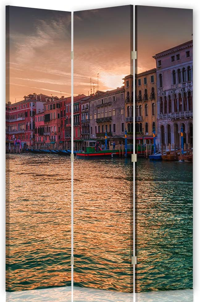 Feeby Foto Biombo Venecia 3 Paneles Unilateral Agua Arquitectura ...