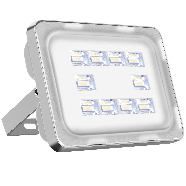 Viugreum 150W LED Fluter aussen, LED Aussenstrahler Kaltweiss(6000K - 6500K), 18000LM, IP65 Wasserdicht LED Scheinwerfer mit Europäisches Patent [Energieklasse A+] JPD6PT150W