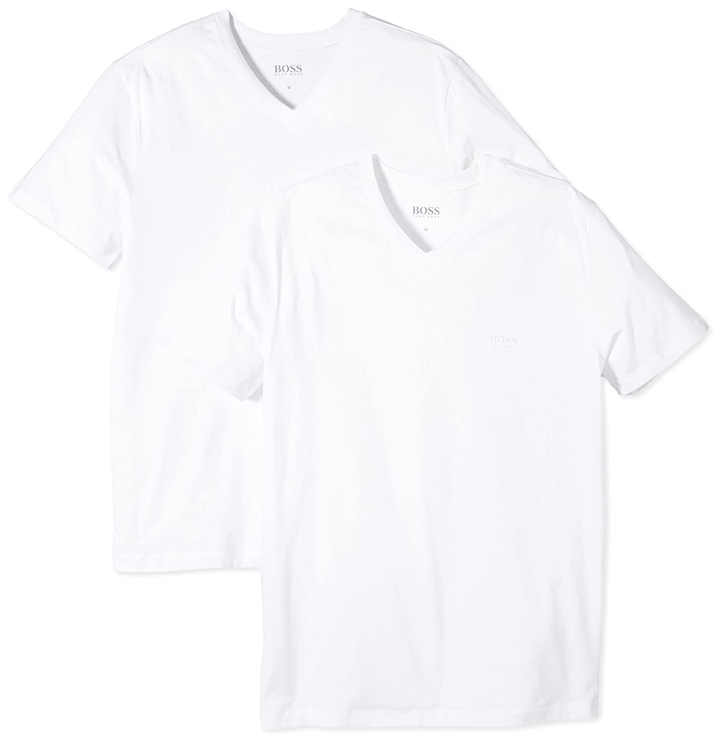 BOSS Hugo Boss Men's Shirt SS VN 2p BM 10111875 02 Short Sleeve T-Shirt:  Amazon.co.uk: Clothing