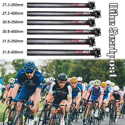 EC90 Vollcarbon Fahrrad Sattelst/ütze MTB Rennrad Sattelst/ütze Fahrrad Sattelst/ütze Fahrradteile 31,6 x 400 MM