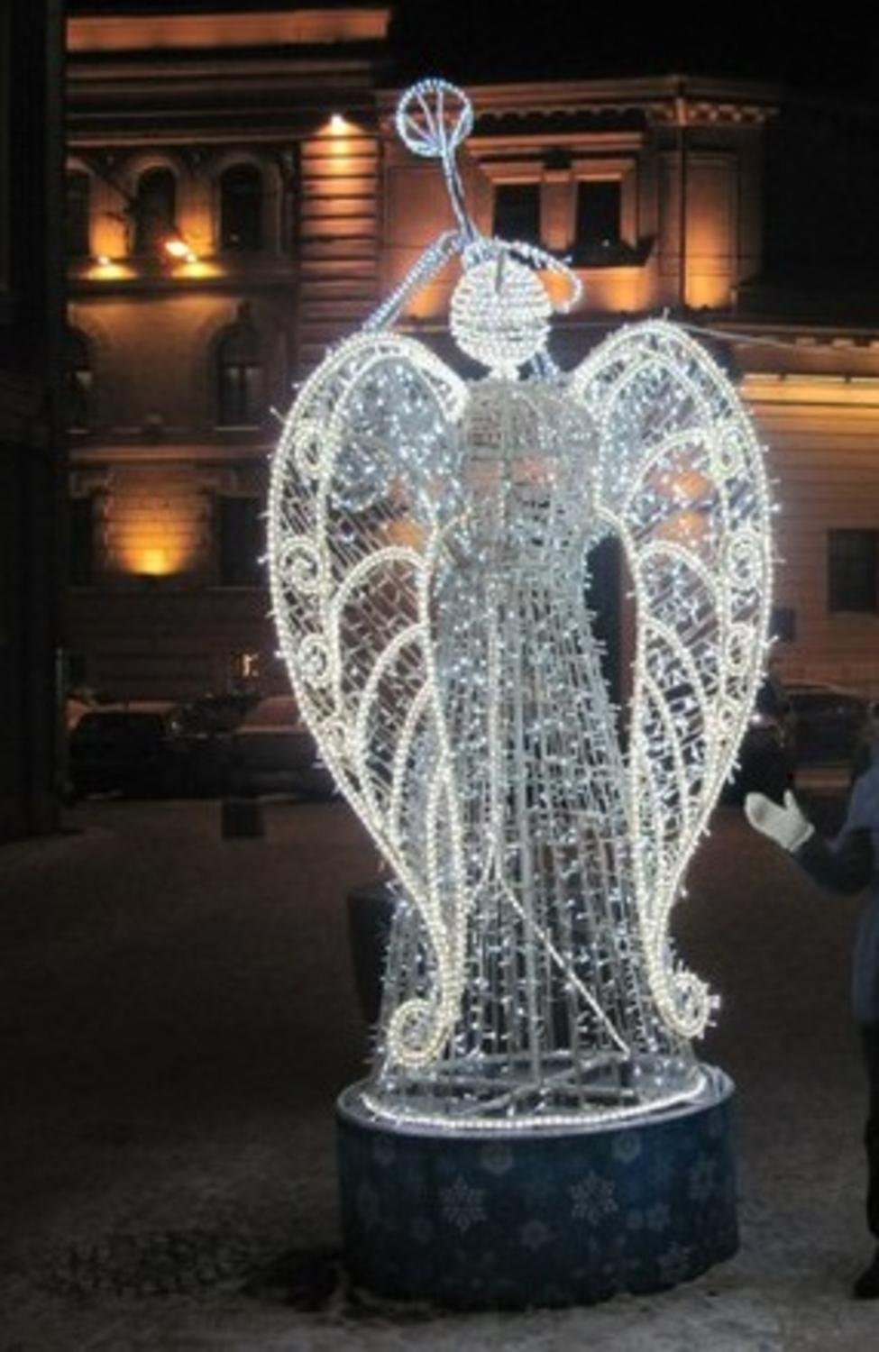 9' Lighted Trumpeting Angel Commercial Christmas Yard ARt