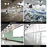 LED Garage Light 100W Deformable Lamp E26/27 Garage Ceiling Lighting 10000 Lux Waterproof Industrial Warehouse Mining Lamp Commercial Light, Shop Light, Barn Light, Bay Light, Warehouse Ceiling Light