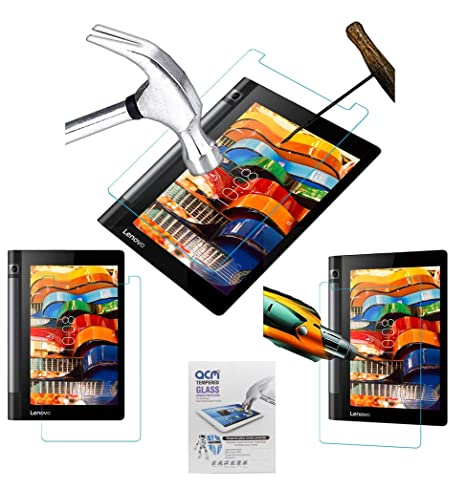 Acm Tempered Glass Screenguard Compatible with Lenovo Yoga Tab 3 8.0 Screen Guard Scratch Protector