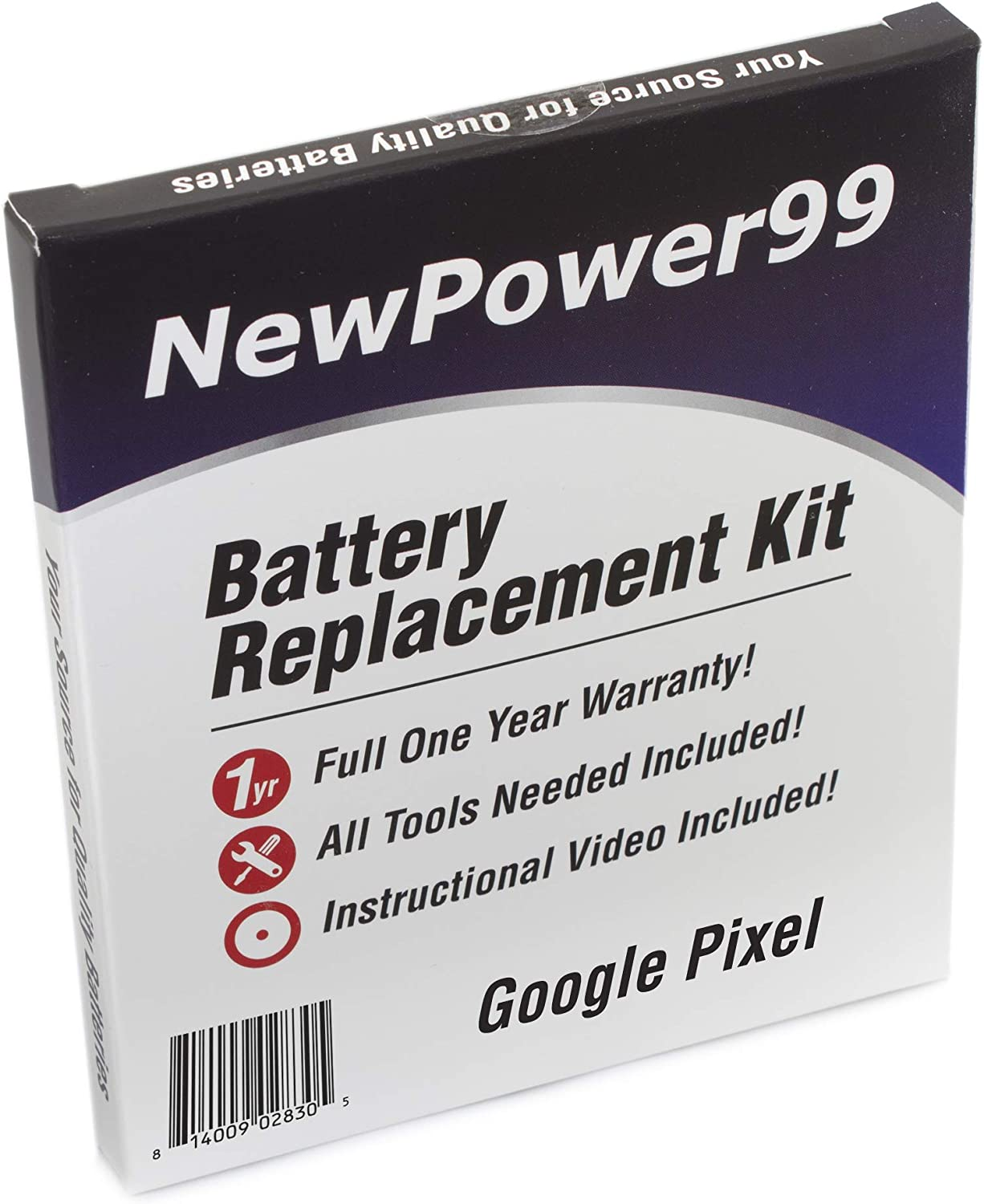 Long Lasting Battery from NewPower99 How-to Video Battery Kit for Google Pixel with Tools