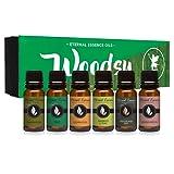 Amazon Price History for:Woodsy Gift Set of 6 Premium Grade Fragrance Oils - Frankincense, Pine Needle, Cedarwood, Bamboo & Teak, Woodland Bay, Sandalwood - 10Ml - Scented Oils