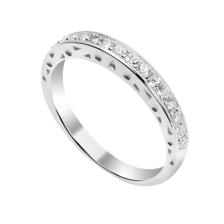 JewelleryBox - Anello in argento Sterling e cristalli CHZ-247