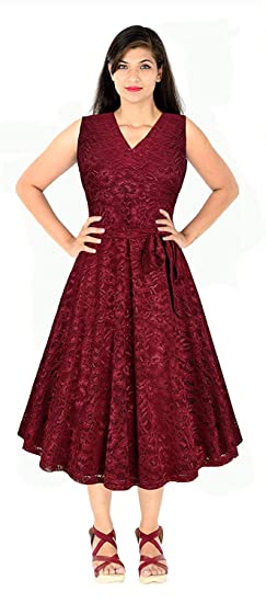 Image Unavailable. Image not available for. Colour  Shree radhe Enterprise  A-line Midi Dresses For Women Western Wear Skater Dress (Free 64030c3e0