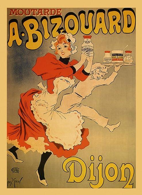 A Bizouard Dijon Mustard France French Food Cooking Vintage Poster Repro FREE SH