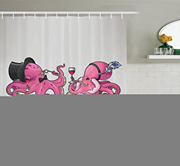 Octopus Decor Kollektion Cartoon Art Illustration Der Octopusse In
