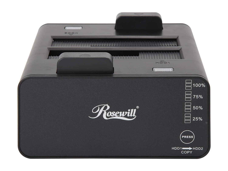 "Rosewill Dual Bay Docking Station Enclosure USB 3.0 for 2.5/""//3.5/"" SATA III HDD a"