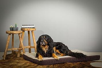 Perros Cojín para perros grandes XL 120 x 80 cm marrón. Cama para perros XXL
