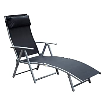 chaise longue pliable multi position