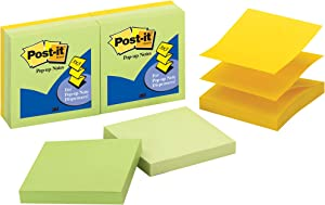 Post-it Pop-up Notes, 3 in x 3 in, 6 Pads, America's #1 Favorite Sticky Notes, Assorted Colors, Clean Removal, Recyclable (R330-6APL)