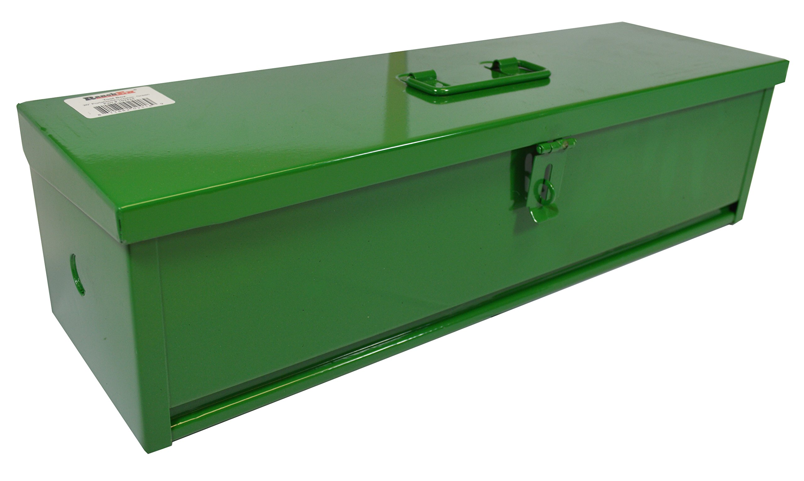 RanchEx 102424 Tool Box - Portable For Trucks/Tractors, Mounting Hardware Included - 20'' - Green
